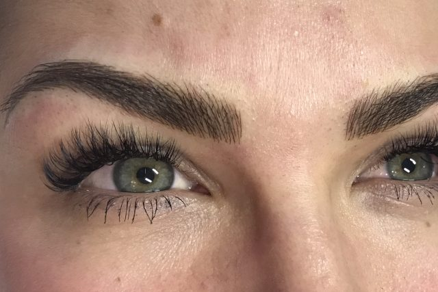 microblading eyebrows at India Gillan Rochester